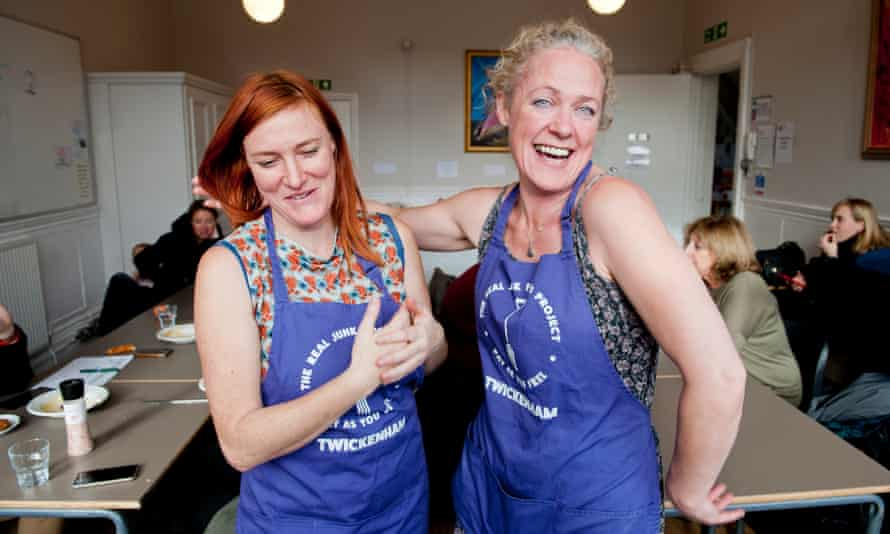 Chrissy Weller and Clare Box at the Etna cafe welcome people to pay what they like or nothing at all for the food.