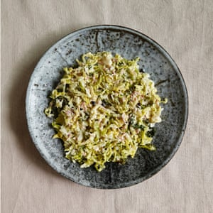 Bold as brassica: Henry Harris' creamed savoy cabbage with juniper and bacon.