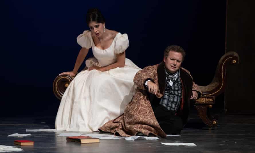 Julietta Avanesyan and Peter Auty in Pushkin at Grange Park Opera.