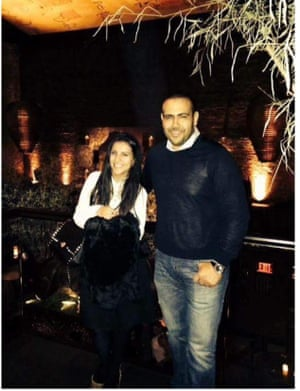 Isra Eldarat and her brother Mohamed Eldarat, who has been detained since August 2014.