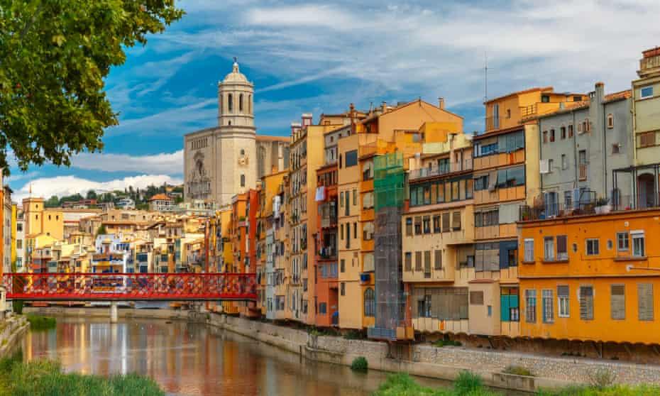 Riverside houses in Girona.