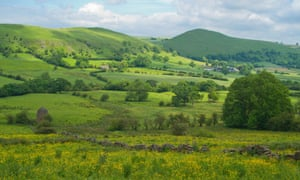 Peak District landscape, Staffordshire, Longnor,