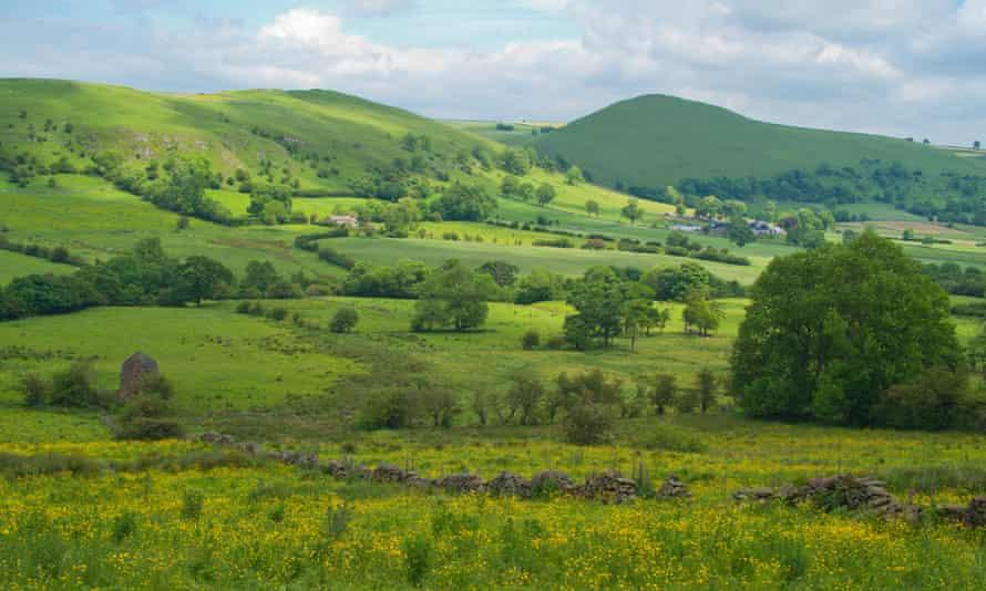 Peak District landscape, Staffordshire, Longnor,