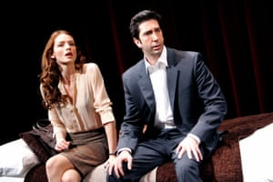 David Schwimmer with Saffron Burrows in Some Girls at the Gielgud theatre, 2005