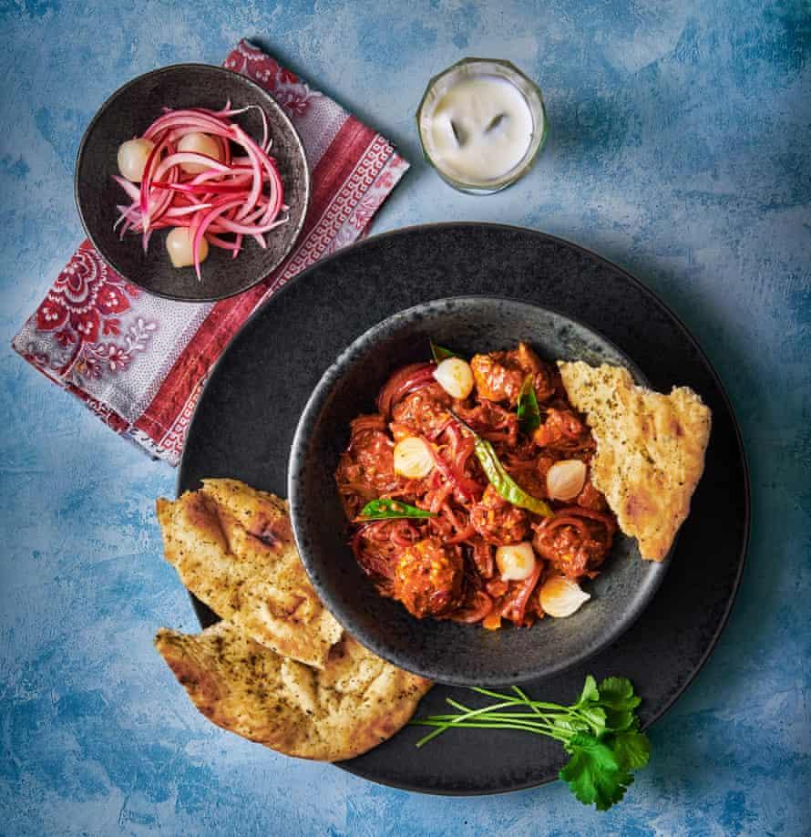 Pork Vindalho by Vivek Singh. Food styling: Livia Abraham. Prop styling: Pene Parker.
