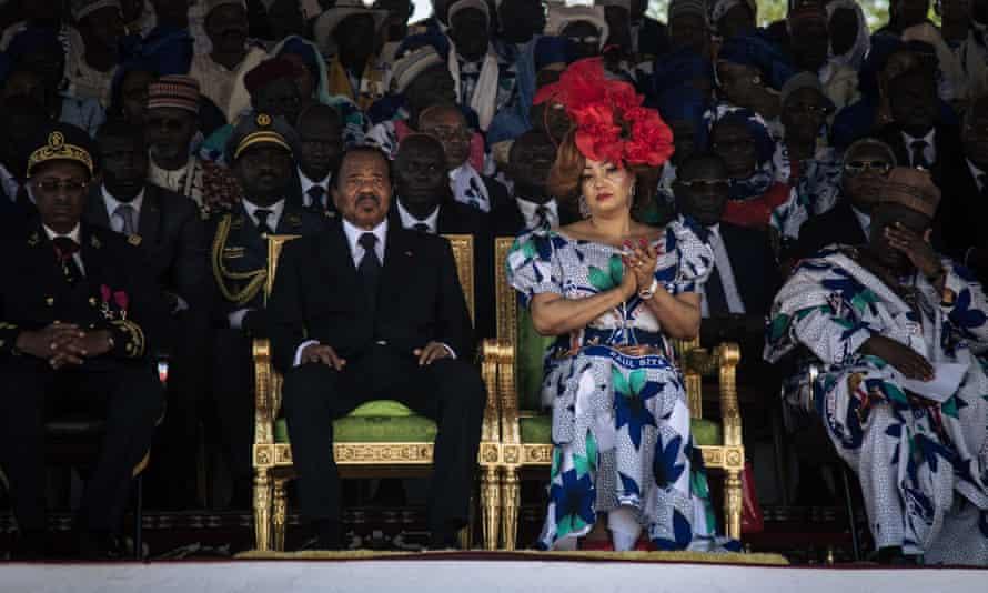 Cameroonian president Paul Biya and his wife, Chantal Biya, September 2018.