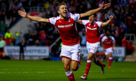 Rotherham dispose of Scunthorpe to seal Wembley play-off final spot