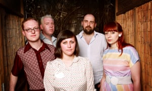 Lee Tomson, Gavin Dunbar, Tracyanne Campbell, Kenny McKeeve and Carey Lander of Camera Obscura in 2009