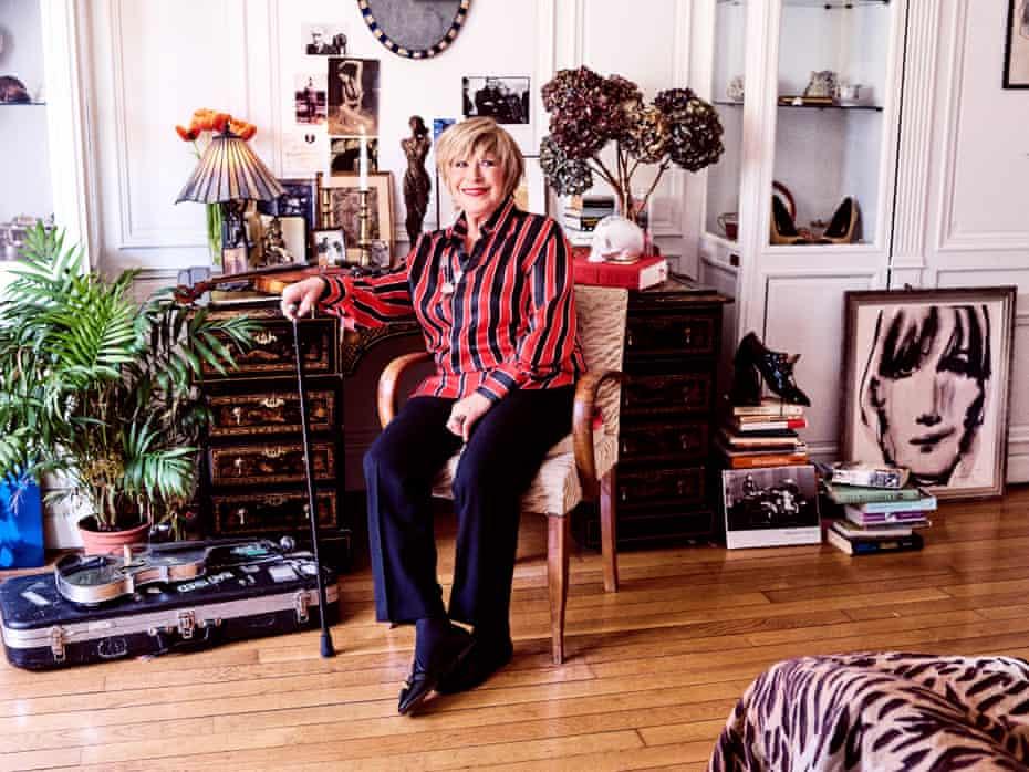 Marianne Faithfull at home in Paris