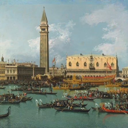 Bernardo Bellotto's painting of Venice on Ascension Day