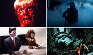 Deathless thrills … Clockwise from top left: Prince of Darkness, The Fog, Escape from New York, They Live