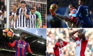 Clockwise from top left: Gareth Barry and his West Brom team-mates are struggling; Xherdan Shaqiri has found form for Stoke; Southampton have one league win since late November; Wilfried Zaha's fitness will be key for Crystal Palace.