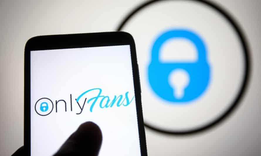 onlyfans logo on mobile phone