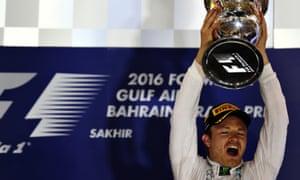 Nico Rosberg on the podium.