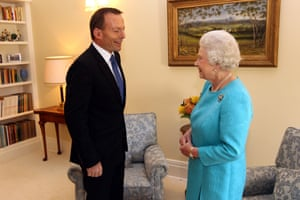The Queen meets Tony Abbott, then opposition leader, in Canberra in 2011