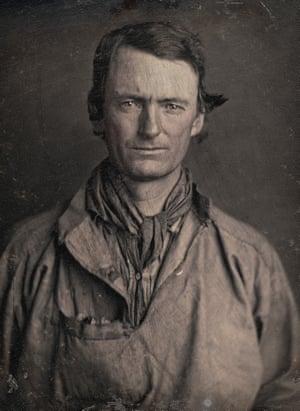 Photographer: Robert H Vance. Portrait of an unidentified man c.1850. Daguerreotype