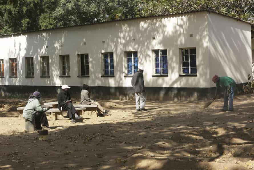 The Society for the Destitute Aged care home in Harare, pictured, has had to impose a strict lockdown to protect residents during the pandemic.