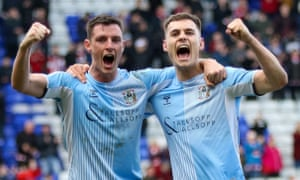 Coventry have been promoted to the Championship as a result of League One being curtailed.
