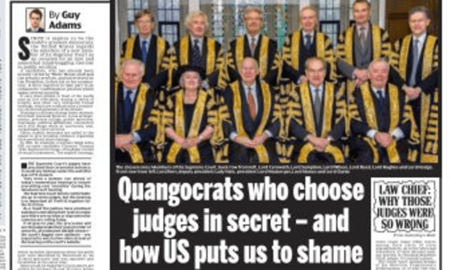 The Daily Mail's latest assault on the judges.