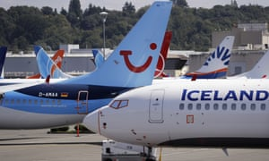 grounded Boeing 737 Max airplanes