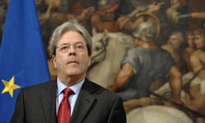 Italy's prime minister, Paolo Gentiloni