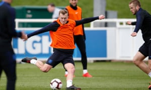James Ward-Prowse during an England training session.
