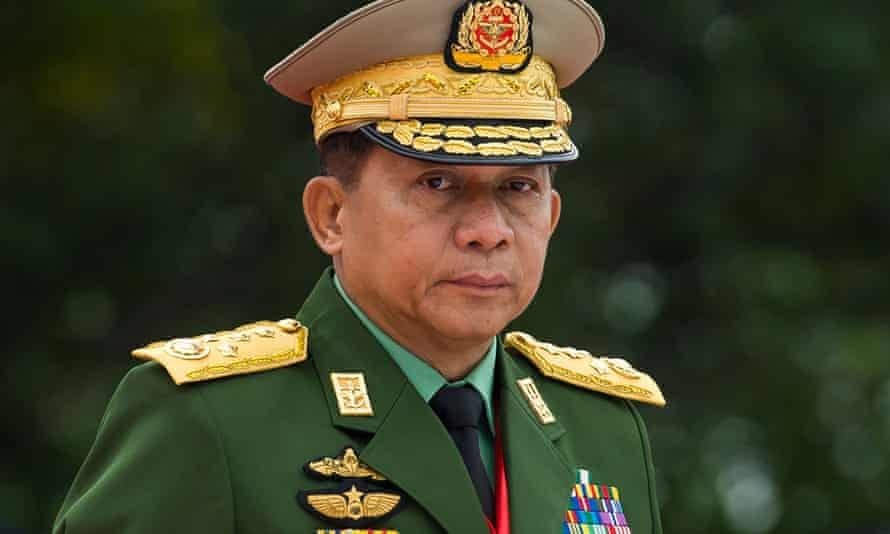 Gen Min Aung Hlaing will lead Myanmar for the next year.