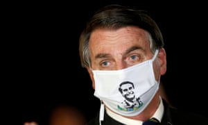Bolsonaro in late May. The president has flouted social distancing and attended events and political rallies.