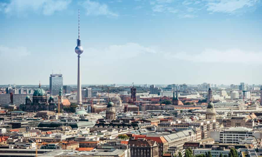 Alexanderplatz and Berlin skyline.
