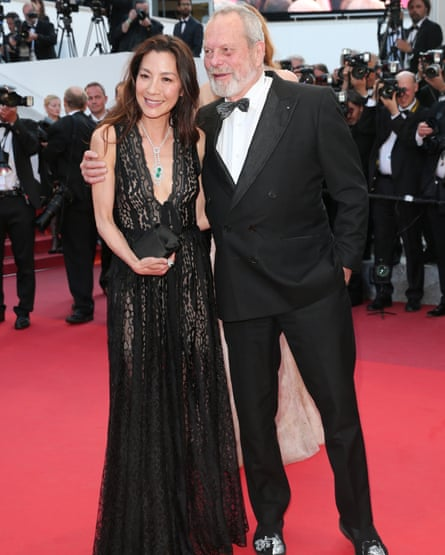 Michelle Yeoh and Terry Gilliam at the premiere of Julieta in Cannes.