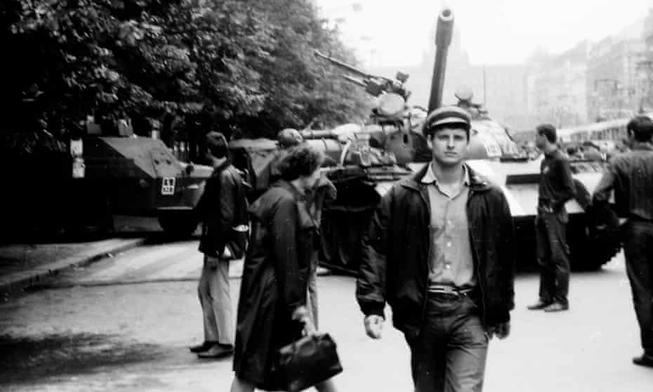 The streets of Prague on 21 August 1968.