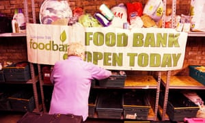 A volunteer at the food bank at Ibrox Parish Church, Glasgow