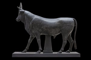 A 2m statue of the Apis Bull from the reign of Hadrian.