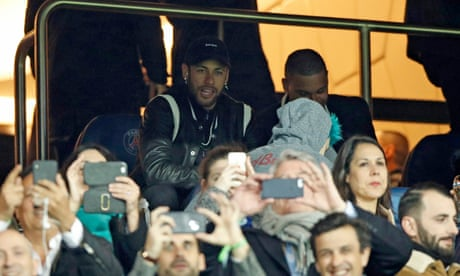 Neymar charged by Uefa for insulting referee after PSG's defeat by United