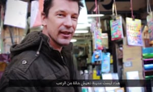 A video grab taken from YouTube believed to be of John Cantlie in a previous propaganda video released by Isis.