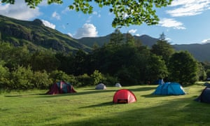 A National Trust campsite in Great Langdale, Cumbria