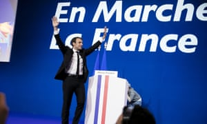 Emmanuel Macron, founder and Leader of the political movement 'En Marche !'