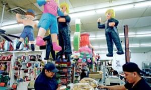 Donald Trump piñatas at El Paisano in Santa Fe, New Mexico.