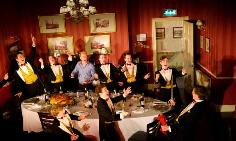 Oxford dining society in the play Posh