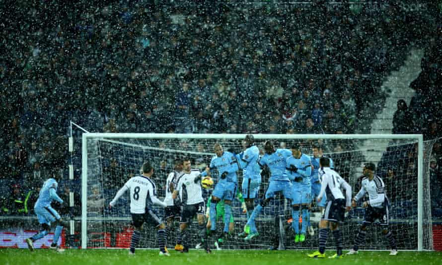 Man City travelled to The Hawthorns, England's highest ground, to find snow and cold on 26 December last year. They beat West Brom 3-1 anyway.