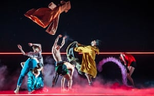 A scene from Rouge by Rambert at Sadler's Wells, London.