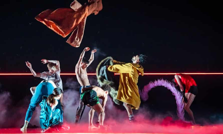 A scene from Rouge by Marion Motin, performed by Rambert at Sadler's Wells.