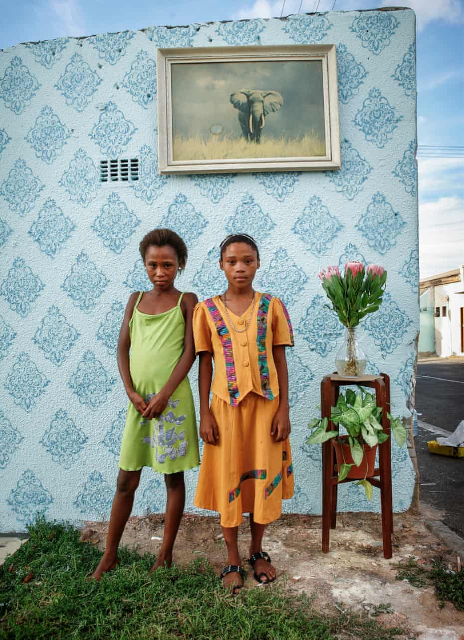 Two friends posing for their portrait on the corner of Cornwell and Hercules Street in Woodstock, Cape Town, South Africa, 2011.