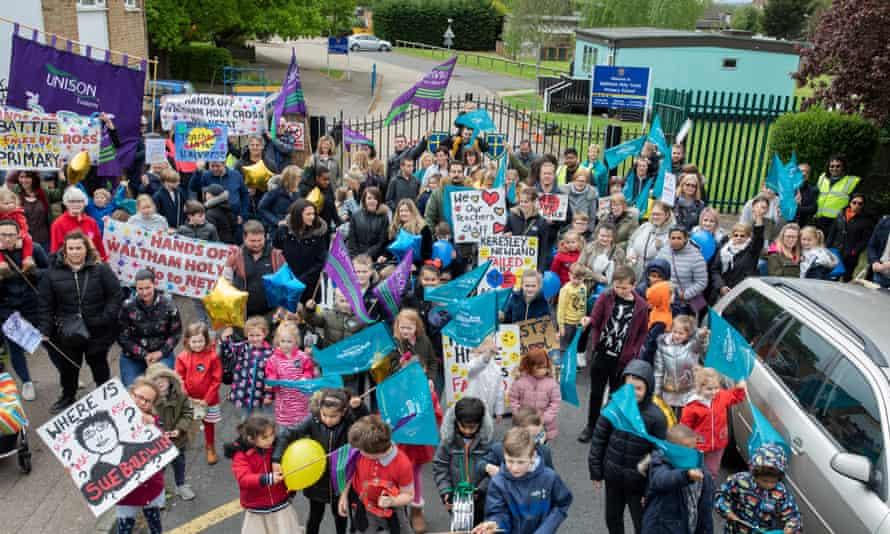 Waltham Holy Cross School protest against academisation