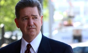 Former FBI agent John Connolly enters Federal Court Thursday, May 23, 2002, in Boston