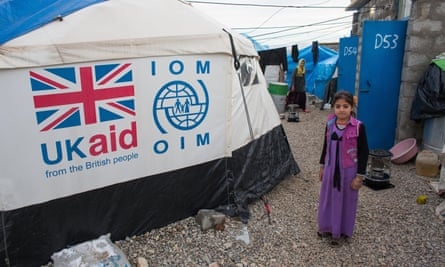 UKAID to a refugee camp in Northern Iraq