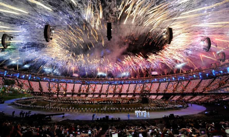 The opening ceremony at the 2012 Olympic Games in London.