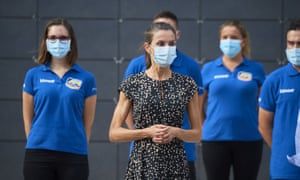 Spain's Queen Letizia visits the Fernando Alonso Museum and Circuit in Llanera, as part of a royal tour that will take King Felipe VI and Queen Letizia through several Spanish Autonomous Communities with the objective of supporting economic, social and cultural activity hit by the pandemic.