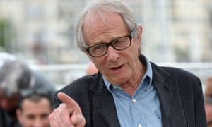 "British director Ken Loach gestures on May 13, 2016 during a photocall for the film ""I, Daniel Blake"" at the 69th Cannes Film Festival in Cannes, southern France. / AFP PHOTO / ALBERTO PIZZOLIALBERTO PIZZOLI/AFP/Getty Images"
