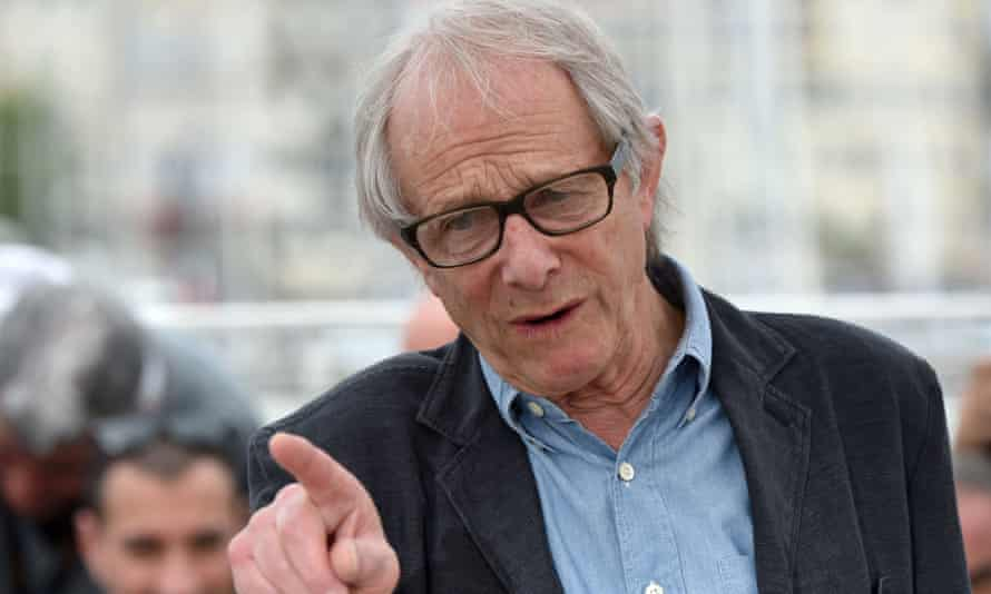 """British director Ken Loach gestures on May 13, 2016 during a photocall for the film """"I, Daniel Blake"""" at the 69th Cannes Film Festival in Cannes, southern France. / AFP PHOTO / ALBERTO PIZZOLIALBERTO PIZZOLI/AFP/Getty Images"""